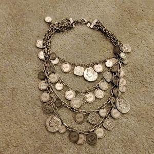 Chico's multistrand coin necklace
